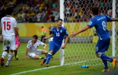 Sebastian Giovinco of Italy celebrates scoring his team's fourth goal to make the score 43 during the FIFA Confederations Cup Brazil 2013 Group A...