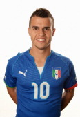 Sebastian Giovinco of Italy poses during a portrait session ahead of the 2013 FIFA Confederations Cup at the Sheraton Barra Hotel on June 12 2013 in...