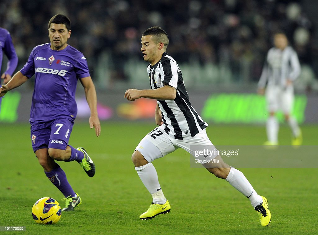 Sebastian Giovinco of Juventus FC in action during the Serie A match between Juventus FC and ACF Fiorentina at Juventus Arena on February 9, 2013 in Turin, Italy.