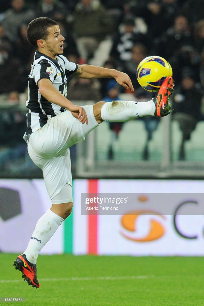 Sebastian Giovinco of Juventus FC in action during the TIM Cup match between Juventus FC and Cagliari Calcio at Juventus Arena on December 12, 2012 in Turin, Italy.