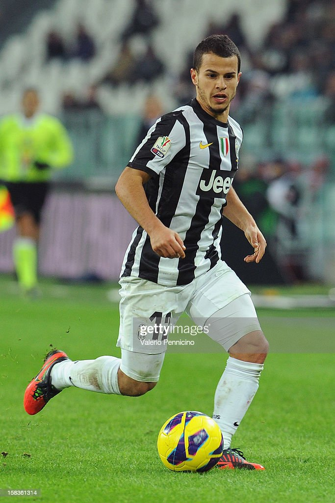 <a gi-track='captionPersonalityLinkClicked' href=/galleries/search?phrase=Sebastian+Giovinco&family=editorial&specificpeople=4284715 ng-click='$event.stopPropagation()'>Sebastian Giovinco</a> of Juventus FC in action during the TIM Cup match between Juventus FC and Cagliari Calcio at Juventus Arena on December 12, 2012 in Turin, Italy.
