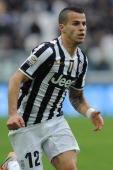 Sebastian Giovinco of Juventus looks on during the Serie A match between Juventus and AC Chievo Verona at Juventus Arena on February 16 2014 in Turin...