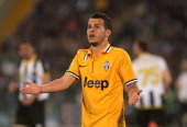 Sebastian Giovinco of Juventus reacts during the Serie A match between Udinese Calcio and Juventus at Stadio Friuli on April 14 2014 in Udine Italy