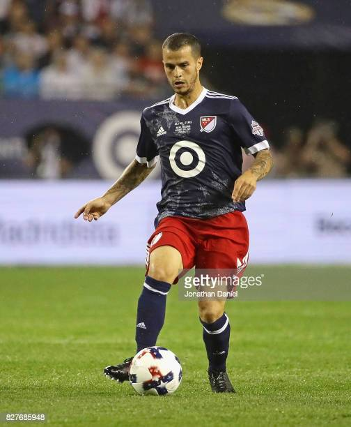 Sebastian Giovinco of the MLS AllStars controls the ball against Real Madrid during the 2017 MLS All Star Game at Soldier Field on August 2 2017 in...