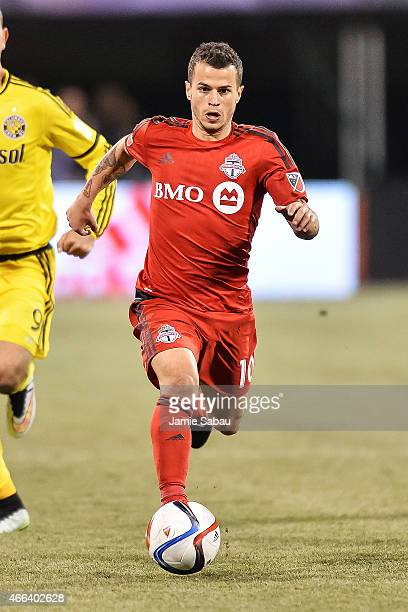 Sebastian Giovinco of the Toronto FC in action against the Columbus Crew SC on March 14 2015 at MAPFRE Stadium in Columbus Ohio