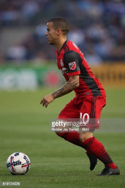 Sebastian Giovinco of Toronto FC during MLS fixture between Toronto FC and New York City FC at Yankee Stadium on July 19 2017 in New York City