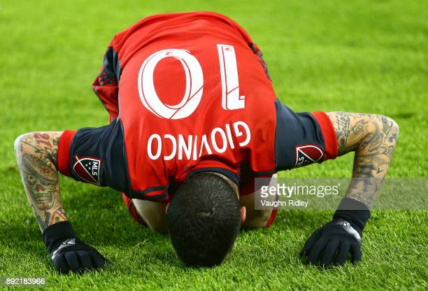 Sebastian Giovinco of Toronto FC gets up from the ground during the 2017 MLS Cup Final against the Seattle Sounders at BMO Field on December 9 2017...