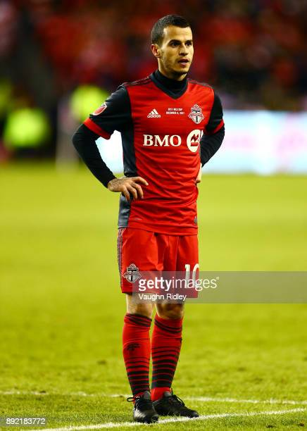 Sebastian Giovinco of Toronto FC looks on during the 2017 MLS Cup Final against the Seattle Sounders at BMO Field on December 9 2017 in Toronto...