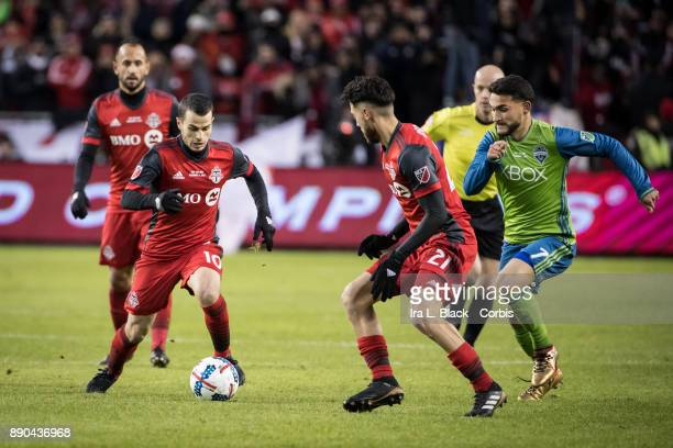 Sebastian Giovinco of Toronto FC takes a run up field during the 2017 Audi MLS Championship Cup match between Toronto FC and Seattle Sounders FC at...