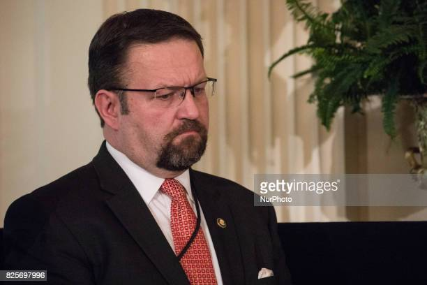 Sebastian Gorka member of the national security advisory staff of the United States was present for he Medal of Honor ceremony for former Specialist...