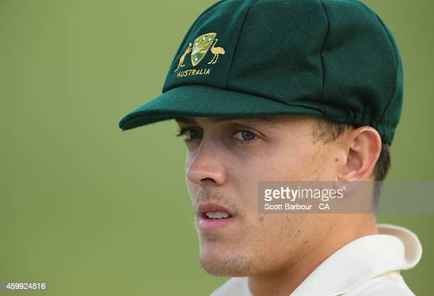 Sebastian Gotch of the the Cricket Australia XI looks on during the international tour match between the Cricket Australia XI and India at Gliderol...