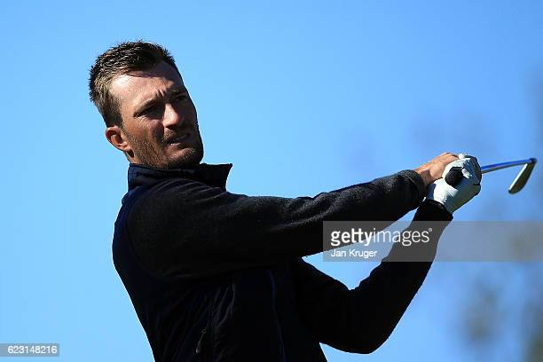 Sebastian Heisele of Germany during the third round of the European Tour qualifying school final stage at PGA Catalunya Resort on November 14 2016 in...