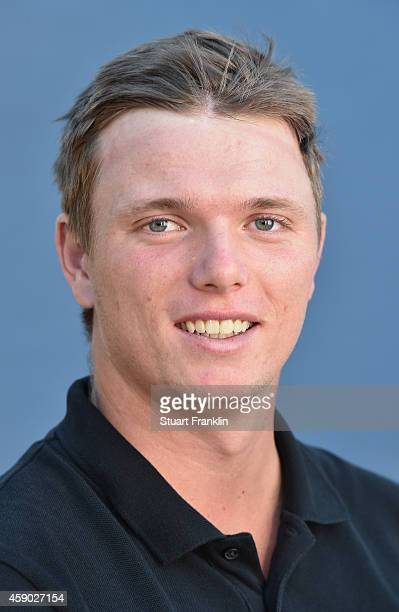 Sebastian Heisele of Germany poses for a photograph during the first round of the European Tour qualifying school final stage at PGA Catalunya Resort...