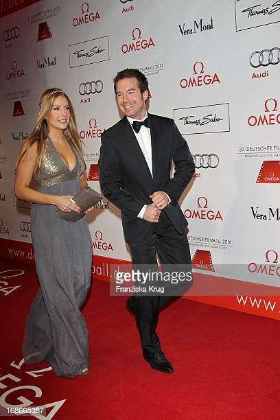 Sebastian Hoffner and guest at 37th German Filmball at Hotel Bayerischer Hof in Munich