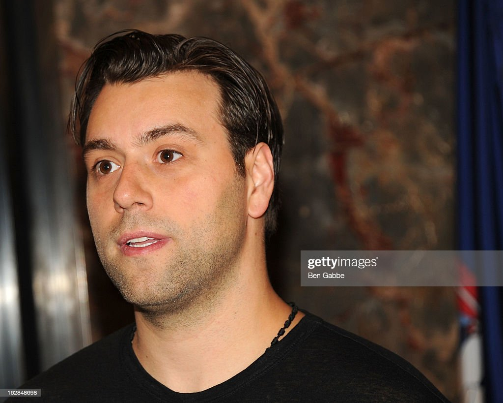 Sebastian Ingrosso of the Swedish House Mafia lights The Empire State Building on February 28, 2013 in New York City.