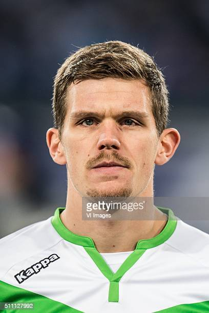 Sebastian Jung of VFL Wolfsburg during the UEFA Europa League round of 16 match between KAA Gent and VfL Wolfsburg on February 17 2016 at the...