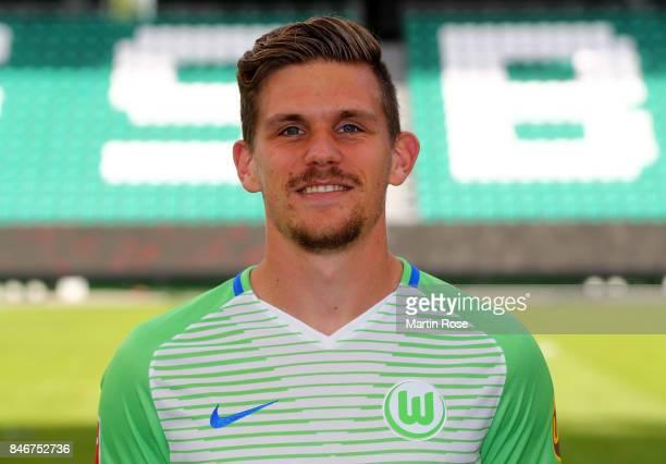 Sebastian Jung of VfL Wolfsburg poses during the team presentation at on September 13 2017 in Wolfsburg Germany