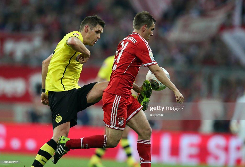 Sebastian Kehl Borussia Dortmund gegen Phlipp LAHM FC Bayern München 1 Bundesliga Fussball FC Bayern München Borussia Dortmund BVB 03 Saison 2013 /...