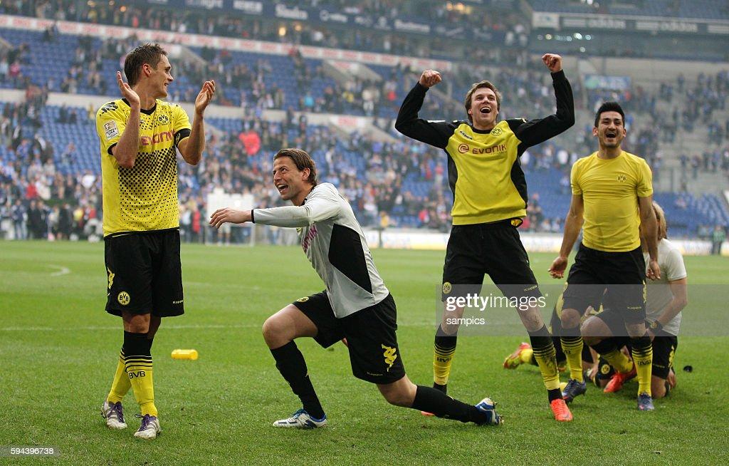 Sebastian Kehl Borussia Dortmund Roman Weidenfeller Borussia Dortmund Kevin Großkreutz Grosskreutz Borussia Dortmund und Ilkay Gündogan Guendogan...
