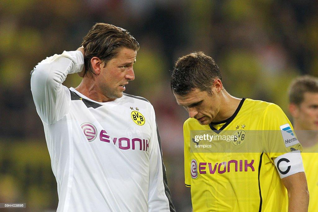 Sebastian Kehl Borussia Dortmund und Roman Weidenfeller Borussia Dortmund Supercup Fussball Borussia Dortmund BVB FC Bayern München 42 Saison 2013/...