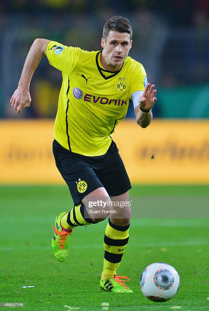 Sebastian Kehl of Dortmund in action during the DFB Cup semi final match between Borussia Dortmund and VfL Wolfsburg at Signal Iduna Park on April 15, 2014 in Dortmund, Germany.