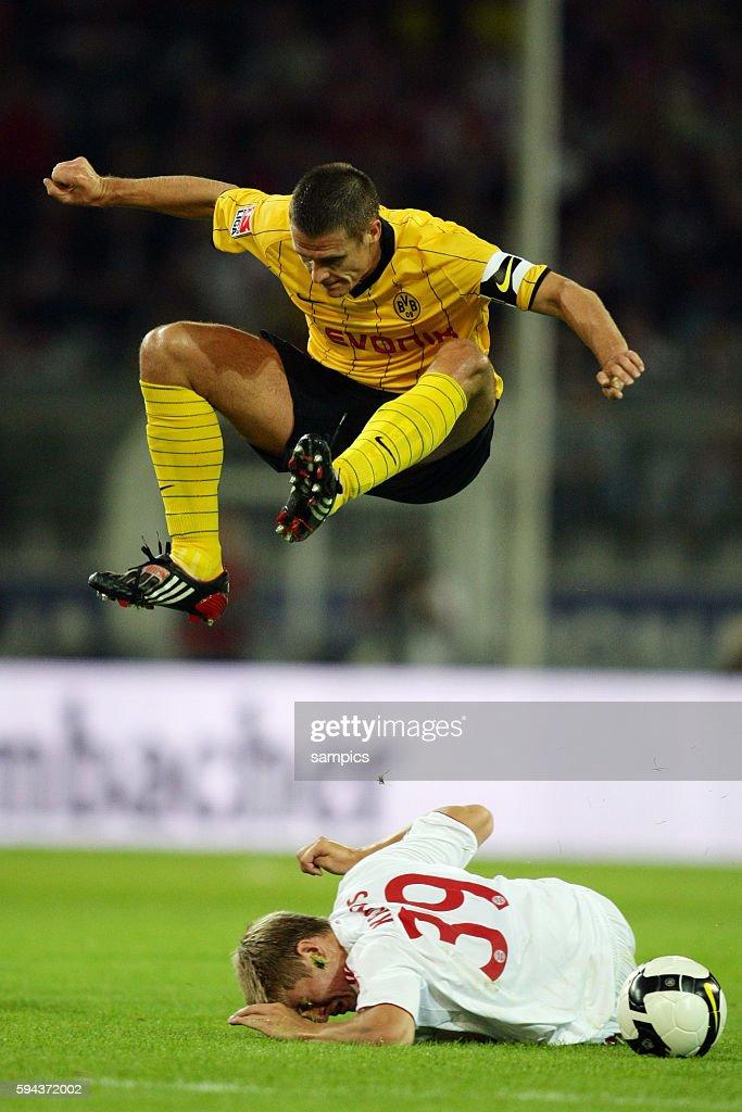 Sebastian Kehl of Dortmund with Toni Kroos during the German DFB Supercup between Cup winners Borussia Dortmund and Bundesliga Champions FC Bayern...