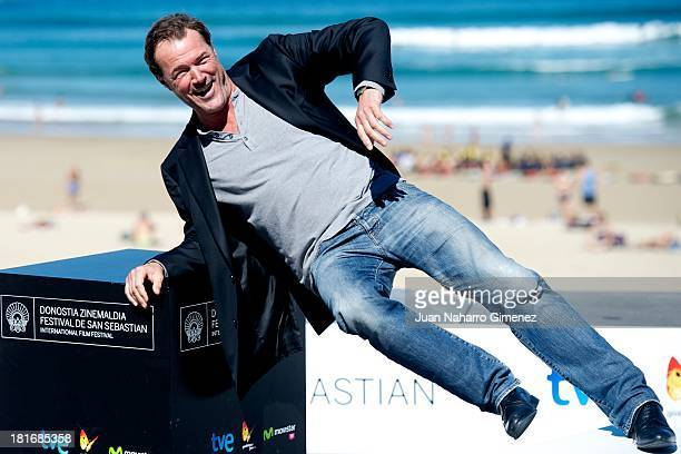 Sebastian Koch attends 'Oktober/November' photocall during 61st San Sebastian Film Festival on September 23 2013 in San Sebastian Spain