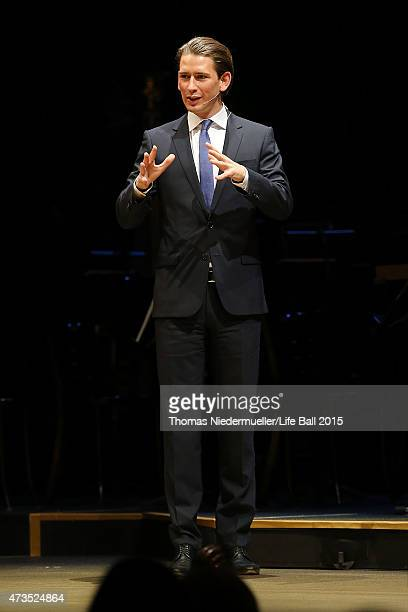 Sebastian Kurz attends the Red Ribbon Celebration Concert United in Difference at Burgtheater on May 15 2015 in Vienna Austria