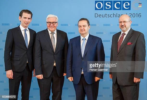 Sebastian Kurz Foreign Minister of Austria German Foreign Minister FrankWalter Steinmeier Ivica Dacic Foreign Minister of Serbia and Lamberto Zannier...