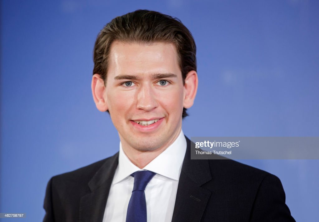 Sebastian Kurz, Foreign Minister of Austria, speak to the media on January 15, 2014 in Berlin, Germany.