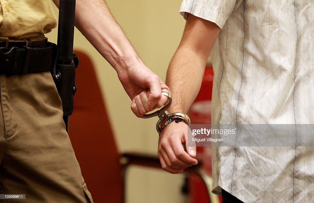 Sebastian L one of the two teenagers charged with killing 50 year old Dominik Brunner at the train station in Solln in September 2009 arrives at a...