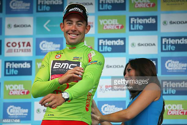 Sebastian Lander of Denmark and the BMC Racing Team leads the Sprint classification after stage six of the Tour of Britain from Bath to Hemel...