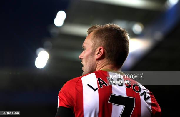Sebastian Larsson of Sunderland looks on during the Premier League match between Leicester City and Sunderland at The King Power Stadium on April 4...