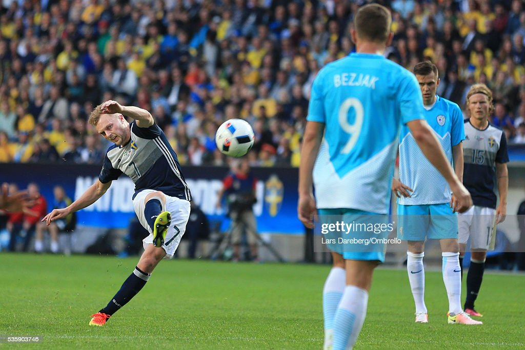 <a gi-track='captionPersonalityLinkClicked' href=/galleries/search?phrase=Sebastian+Larsson&family=editorial&specificpeople=719331 ng-click='$event.stopPropagation()'>Sebastian Larsson</a> of Sweden during the international friendly match between Sweden and Slovenia on May 30, 2016 in Malmo, Sweden.