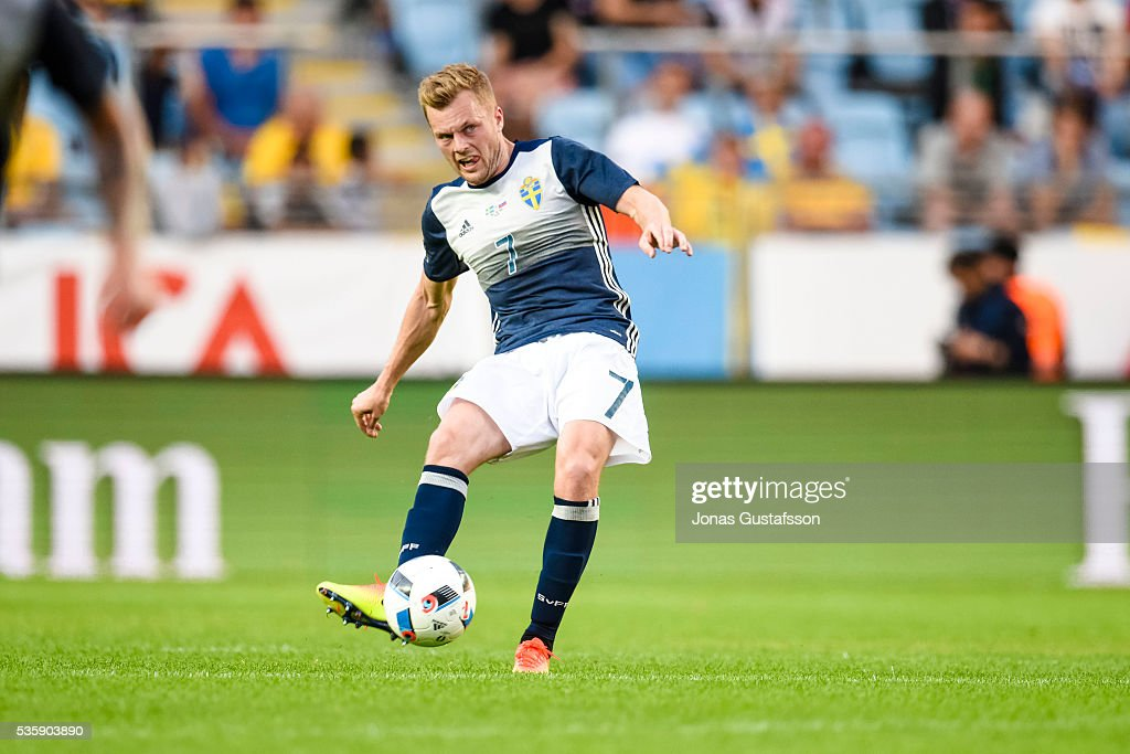 Sebastian Larsson of Sweden during the international friendly match between Sweden and Slovenia May 30, 2016 in Malmo, Sweden.