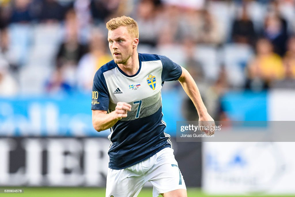 <a gi-track='captionPersonalityLinkClicked' href=/galleries/search?phrase=Sebastian+Larsson&family=editorial&specificpeople=719331 ng-click='$event.stopPropagation()'>Sebastian Larsson</a> of Sweden during the international friendly match between Sweden and Slovenia May 30, 2016 in Malmo, Sweden.
