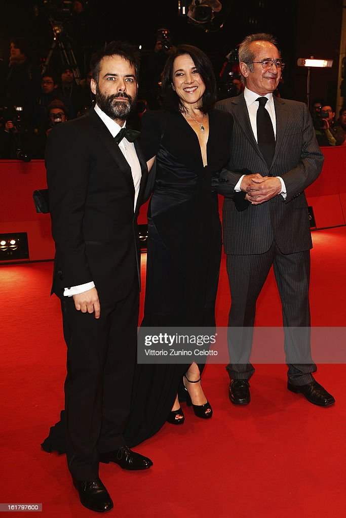 Sebastian Lelio, Paulina Garcia and Sergio Hendandez attend the Closing Ceremony of the 63rd Berlinale International Film Festival at Berlinale Palast on February 14, 2013 in Berlin, Germany.