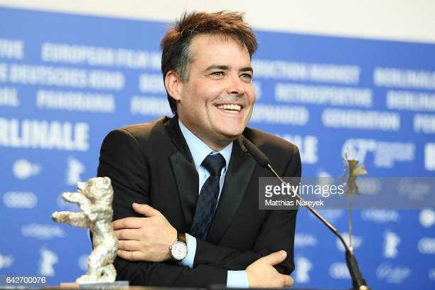 Sebastian Lelio winner of the Silver Bear for Best Screenplay attends the award winners press conference during the 67th Berlinale International Film...