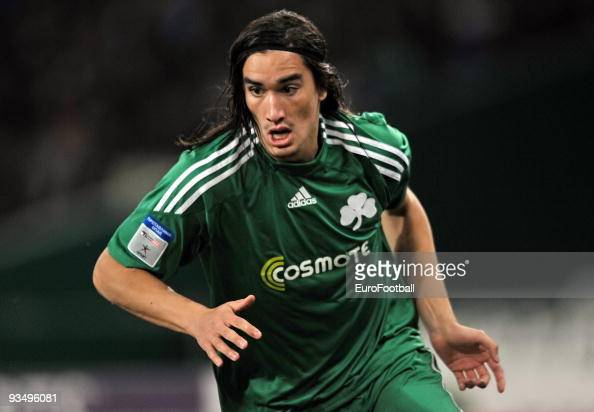 Sebastian Leto of Panathinaikos during the Super League match between Panathinaikos FC and Asteras Tripolis held on November 22 2009 at the Olympic...