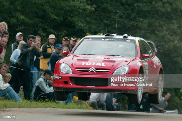Sebastian Loeb of France and the Citroen Xsara WRC team in action during the Rally of Germany the tenth stage of the World Rally Championship in...