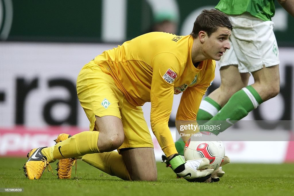 Sebastian Mielitz (of Bremen during the Bundesliga match between SV Werder Bremen and FC Augsburg at Weser Stadium on March 2, 2013 in Bremen, Germany.