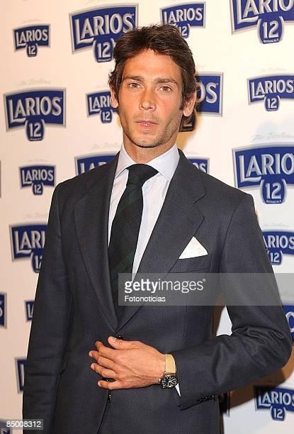 Sebastian Palomo Danko arrives at Larios Calendar launch party at Price Circus on February 23 2009 in Madrid Spain