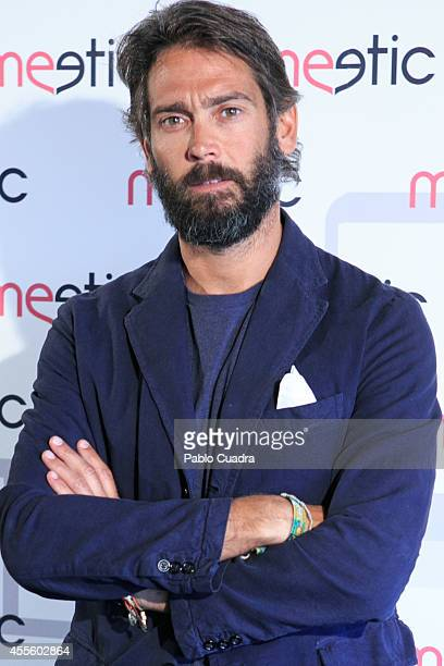 Sebastian Palomo Danko poses during a photocall to present a Meetic event on September 17 2014 in Madrid Spain