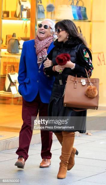 Sebastian Palomo Linares and Concha Azuara are seen on January 31 2017 in Madrid Spain