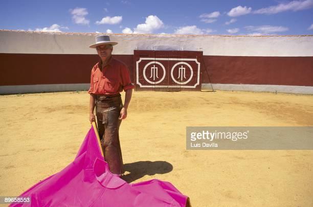 Sebastian Palomo Linares bullfighter The bullfighter in the bullring of his country house