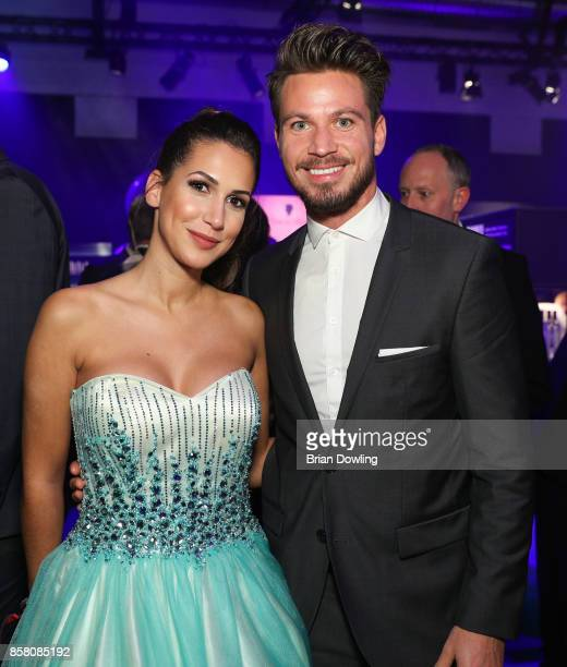 Sebastian Pannek and Clea Lacy attend the Tribute To Bambi after show party at Berlin Station on October 5 2017 in Berlin Germany