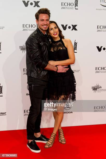 Sebastian Pannek and CleaLacy Juhn on the red carpet during the ECHO German Music Award in Berlin Germany on April 06 2017