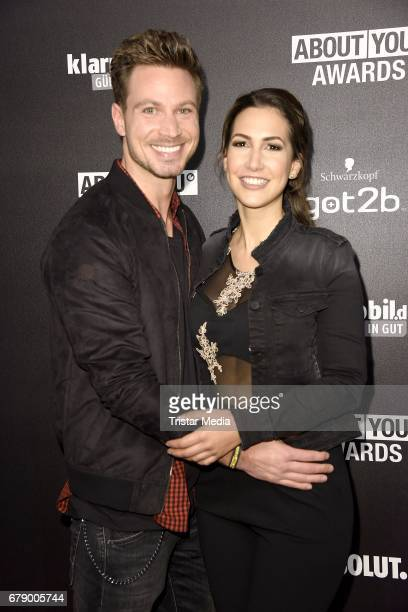Sebastian Pannek and his girlfriend CleaLacy Juhn attend the About You Awards on May 4 2017 in Hamburg Germany