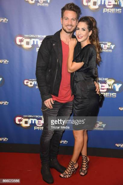 Sebastian Pannek and his girlfriend CleaLacy Juhn attend the German Comedy Awards at Studio in Koeln Muehlheim on October 24 2017 in Cologne Germany