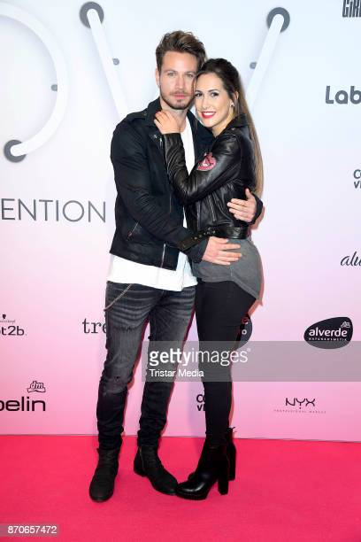 Sebastian Pannek and his girlfriend CleaLacy Juhn attend the GLOW The Beauty Convention at Station on November 4 2017 in Berlin Germany
